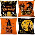 Halloween Pillow Covers 18x18 Inch Set of 4 Throw Pillowcase Farmhouse Pumpkin