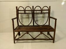 "Heart Shaped Back 9"" Wooden Doll Double Chair ds1497"