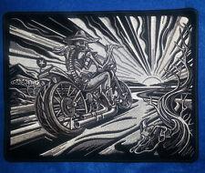 Sombrero Skeleton Sunset 8'' by 10'' Biker Patch