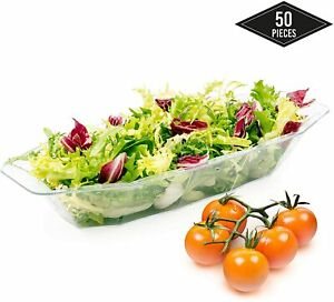 50 Disposable Plastic Serving Bowls Salad Rice Home Party Tableware Picnic BBC