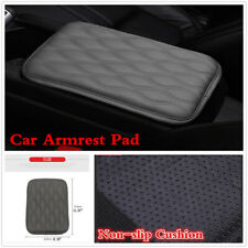 Universal Gray Leather Car Armrest Pad Cover Center Console Non-slip Cushion Mat
