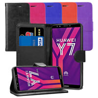 For Huawei Y7 2018 / Honor 7C Case - Premium Leather Wallet Flip Case Cover