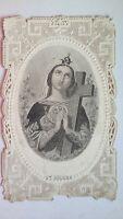 Antico Santino Merlettato, SANTA ELENA Con preghiera  (pos.A11.97)