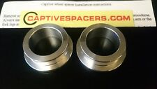 Kawasaki ZX10 ZX-10R 2006- 2015  Captive wheel spacers. Front wheel set. Silver.