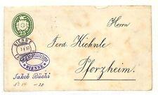 AC233 1897 Switzerland *BIENNE* Cover Postal Stationery {samwells-covers}PTS