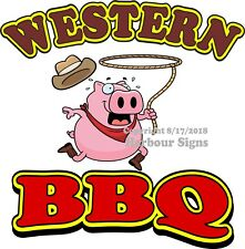 Western Bbq Decal (Choose Your Size) Pig Concession Food Truck Sticker