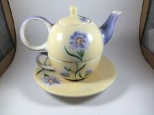 Herman Dodge & son Inc. hand painted in Thailand tea for one Pastel flowers D
