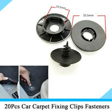 20Pcs Black Plastic Car Floor Mat Carpet Fixing Fastener Retainer Clips Buckle
