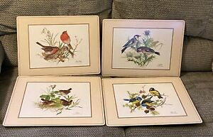 """Pimpernel """"Bird"""" Placemats Set of 4 Vintage Pre-owned Traditional Collection"""