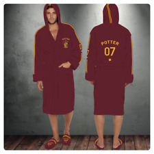 Harry Potter Quidditch 07 Mens Ladies Bath Robe Dressing Night Gown Womens Adult