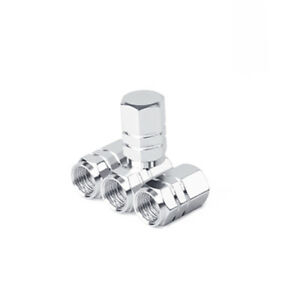 4pcs Silver Aluminum Motorcycle Wheel Tire Tyre Valve Stem Caps For Suzuki