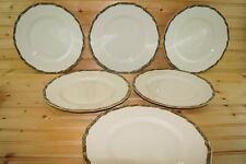 """Hutschenreuther 76444 Ivory (6) Dinner Plates, 10"""""""