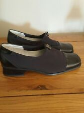 GABOR Black leather & fabric Shoes 5.5 low & comfortable