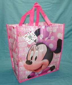 BRAND NEW = DISNEY JUNIOR = MINNIE MOUSE = REUSABLE TOTE SHOPPING GIFT BAG