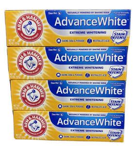 Arm & Hammer Advance White Fluoride Toothpaste Baking Stain Defense 4 Pack