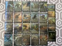 1x COMPLETE MEGA SET (25) GODZILLA FOIL Magic Cards MT/NM MTG Incl JP Promo Land