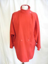 """Ladies Coat -Unbranded, Size 14, Red, 70% Wool, Length 36""""  - 8254"""
