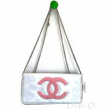 Chanel Beauty Vip Gift clutch cross body bag in White with pink cc logo