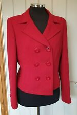 Marks and Spencer bright red double breasted jacket size 14 shorter length