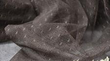 "Lace Fabric Coffee Dot Soft Wedding Fabric Lace Handmade DIY 59"" width 1 yard"