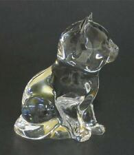 Princess House ~ 24% Lead Crystal ~ Glass Cat ~ Figurine Kitty Kitten w Label