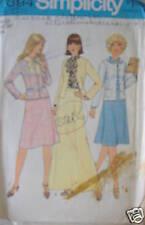 Vintage Simplicity Pattern 1970s 12 Skirt Jacket Blouse SEWING