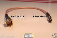 1 x SMA Male to TS9 Male Pigtail Coaxial RF TS-9 RG316 4-20 INCH Cable USA