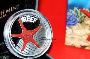 Australia 2011 STARFISH Australian Sea Life II The Reef Silver Coin