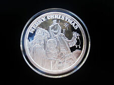 Merry Christmas 1998 Wise Men, Camels, & Star .999 1 Oz Silver Art Round  xr10