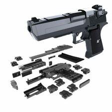 DIY Building Blocks Gun Model Assembling Pistol Desert Eagle Puzzle Game Toy