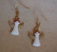 Ohrringe Engel gold mit Glitzer *Neu* , Ohrhaken vergoldet, frei von Nickel