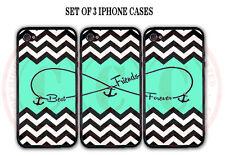 Mint Black White Chevron BFF Best Friends Case- 3 Cases For iPhone 6S SE 5S 5 5C