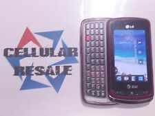 LG Xenon GR500 -23208- Red (AT&T) Good Condition Good ESN
