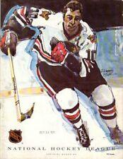 10.10.71 Detroit Red Wings at Chicago Blackhawks Program; Mint!