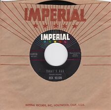 """Rick Nelson """"That's All"""" & """"I'm In Love Again"""" 1963 Pop Rock Teen Idol NM Cond."""