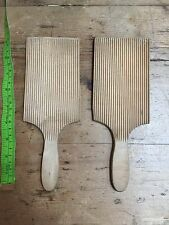 Vintage Wooden Butter Pats With Ridged Detail Fab Display Soap ? Kitchenalia