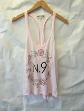Wildfox N.9 Pink Floral Racerback Tank Top Women's Medium MADE IN USA