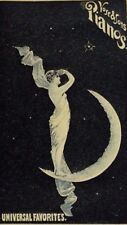 Vose & Sons Piano Co. Fantasy Goddess Standing On Crescent Moon Stars P44