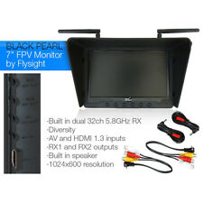 "FlySight BlackPearl RC801 5.8GHz 7"" 1024x600 HD LCD HDMI Wireless FPV Monitor"