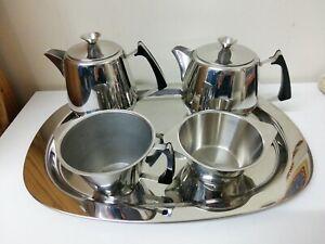 """Swan Brand """"Westbury"""" Stainless Steel Tea Coffee Serving Set Stainless Steel"""