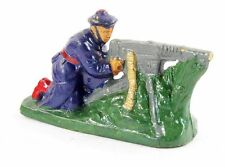 figurine 1930 en PLATRE - MITRAILLEUR MARIN / jouet ancien