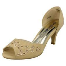Zapatos de tacón de mujer de color principal crema sintético talla 36