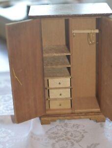 vintage miniature dollhouse MSR wooden Chifforobe new in box BEAUTIFUL