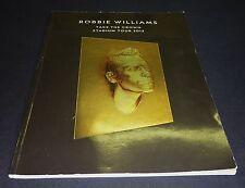 ROBBIE WILLIAMS TAKE THE CROWN STADIUM TOUR 2013 PROGRAM