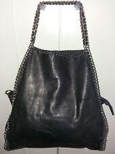 Stock borsa nera in pelle modello falabella + borsa fornarina