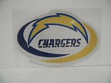 6-Inch San Diego Chargers Logo Perforated Vinyl Window Graphic