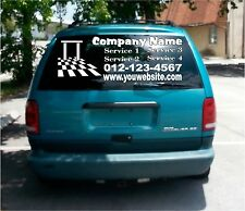 rear window vinyl Decal Personalized Business signs Car vehicle