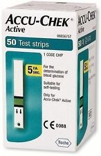 Accu-Chek 50 Test Strips for Active Glucometer with 1 Code Chip Expiry-06/2018.