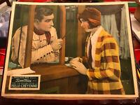 Hello Cheyenne 1928 silent Fox western lobby card Tom Mix Caryl Lincoln