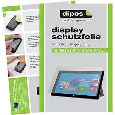 2x Microsoft Surface Pro 2 lámina protectora mate protector de pantalla Lámina dipos